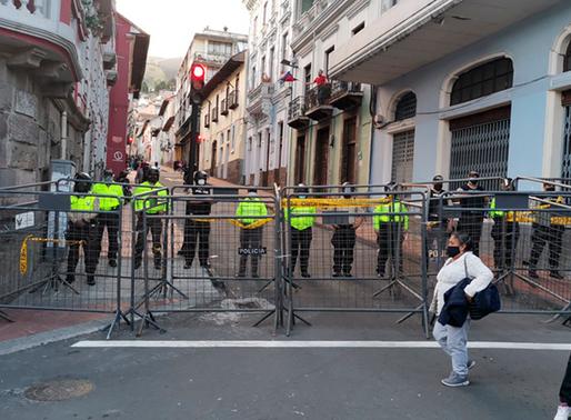 27 calles de Quito están cerradas debido a la manifestación de este 22 de octubre