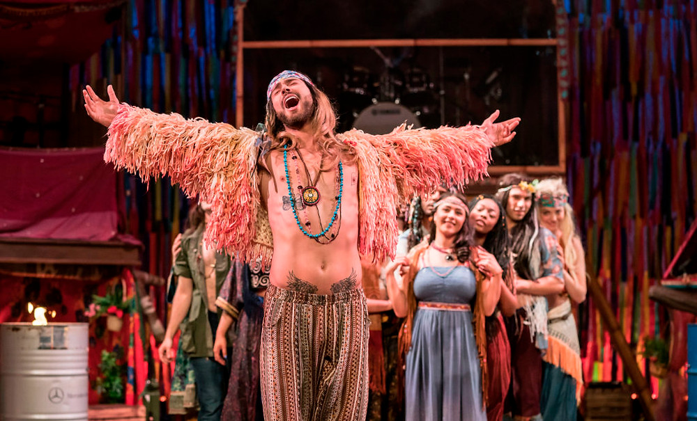 Jake Quickenden leads the hippies in Hope Mill Theatre's 50th anniversary revival of the barrier-breaking musical Hair