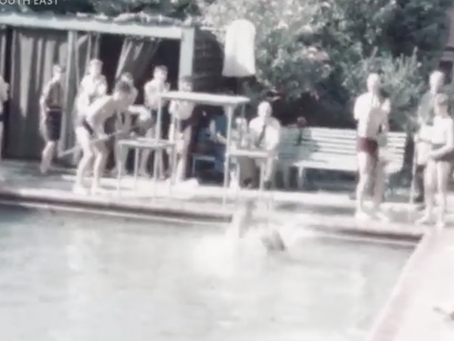 1949: Short film of Swimming Gala at Sharrow School Haywards Heath