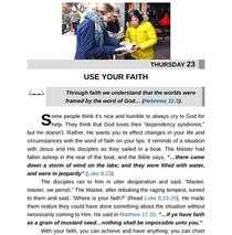 USE YOUR FAITH