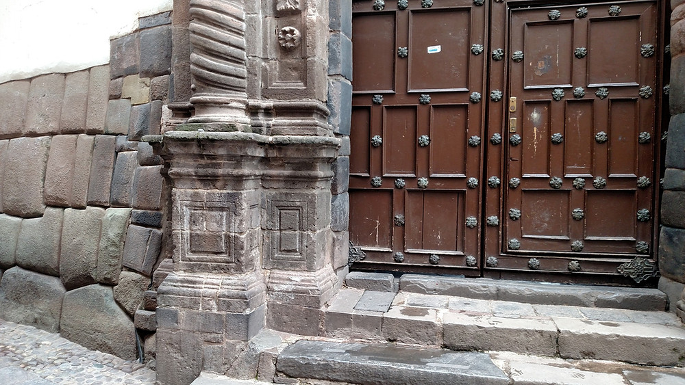 The Museum of Archbishopric Art of Cusco.  Colonial construction built upon the abode of the Inka ruler Inka Roqa.