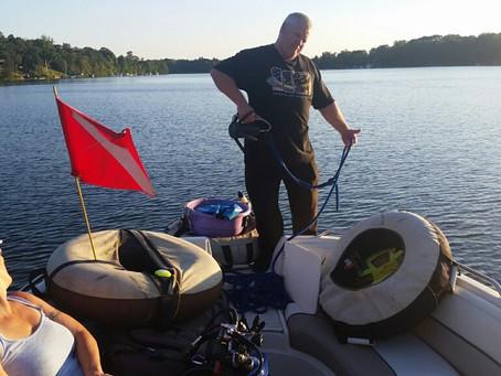 9/12 - Moose lake looking for the darn fishing pole