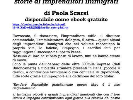 "Avv. Dong interviewed in the Paola Scarsi e-book on ""stories of immigrant entrepreneurs"