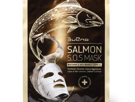 BUENO SALMON S.O.S MASK Тканевая маска с экстрактом лососевой икры