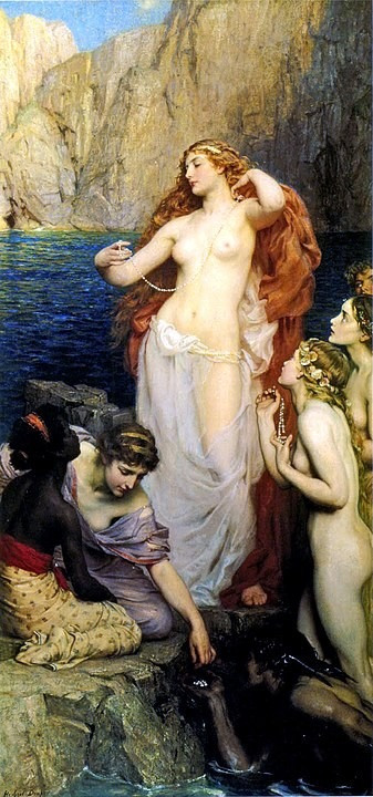 Pearls of Aphrodite, Painting By Herbert James Draper