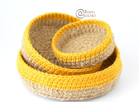 Basket Set Free Crochet Pattern