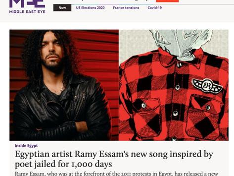 Middle East Eye: 'Egyptian artist Ramy Essam's new song inspired by poet jailed for 1,000 days'