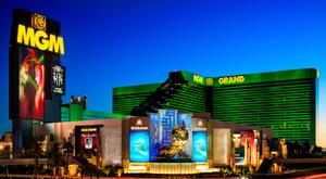 라스베이거스 MGM 그랜드호텔의 전경. /트위터 캡처