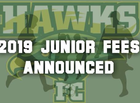 2019 Junior Registration Fees