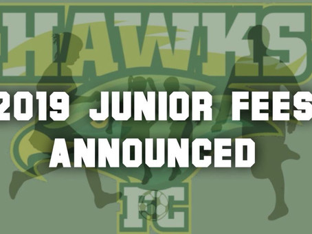 2019 Junior Registration Fees