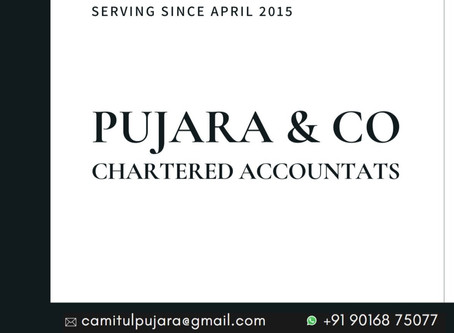 FIVE YEAR JOURNEY OF PUJARA AND CO CHARTERED ACCOUNTANT IN BOPAL