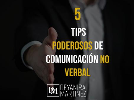 5 TIPOS PODEROSOS DE COMUNICACION NO VERBAL
