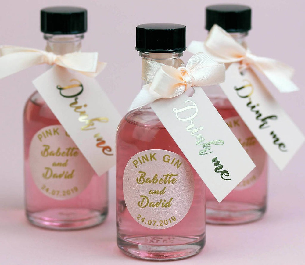 Wedding Library recommended wedding favour drink me