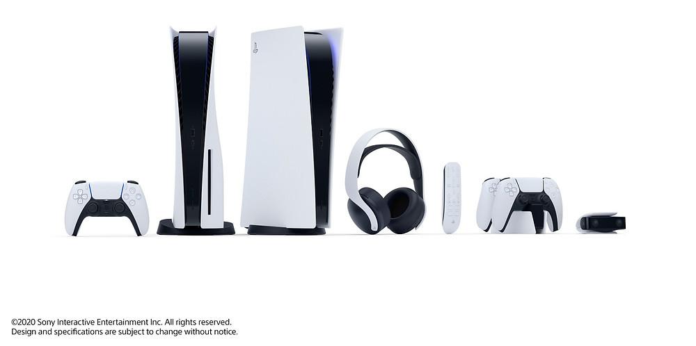 Die neue PS5 mit Zubehör