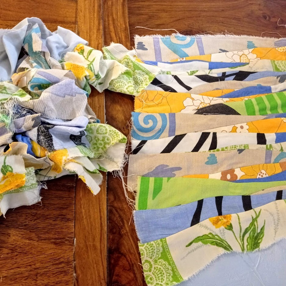 Random fabric strips
