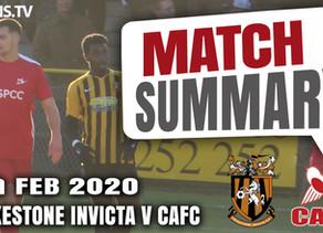 Match summary - Folkestone Invicta