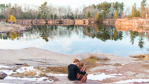 Marisa & Aaron | A Sunkissed Winter Hike | Engagement
