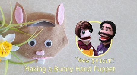 Make a Bunny Hand Puppet with Little Debs