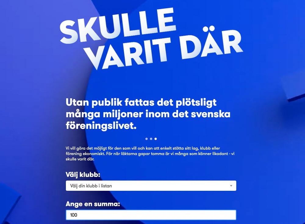 #skullevaritdär #stöttaekonomiskt #stödbiljett #biljettkassa