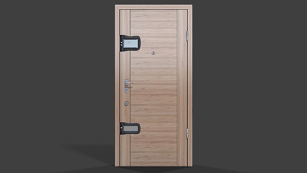 Product 3D Rendering for the door with the cut out view