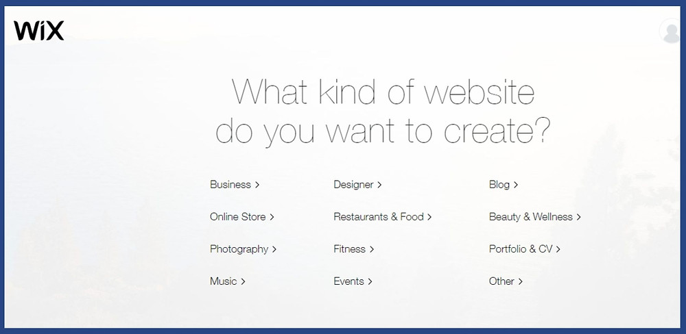 create a website/webpage/landing page using wix website builder