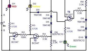 L45, 3 LED Battery Moniter