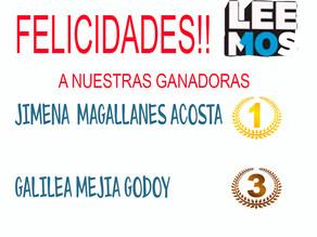 Muchas felicidades a nuestras ganadoras de LEEMOS!!!