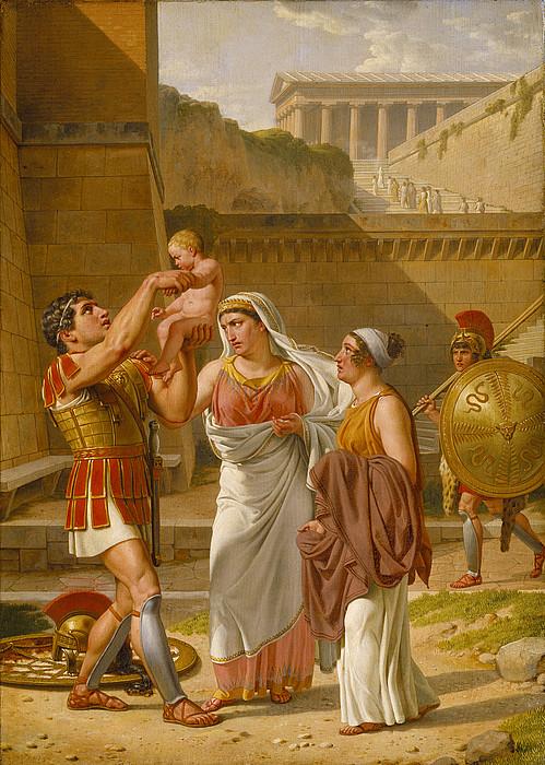 Hector farewells Andromache