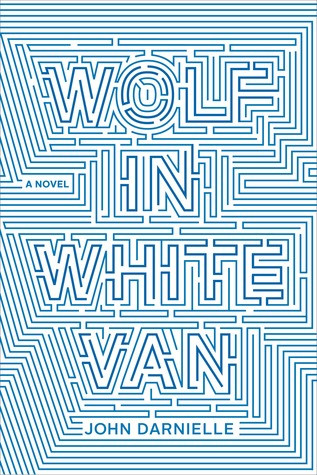 blue lines on a white background form a complicated maze that spells out the book's title