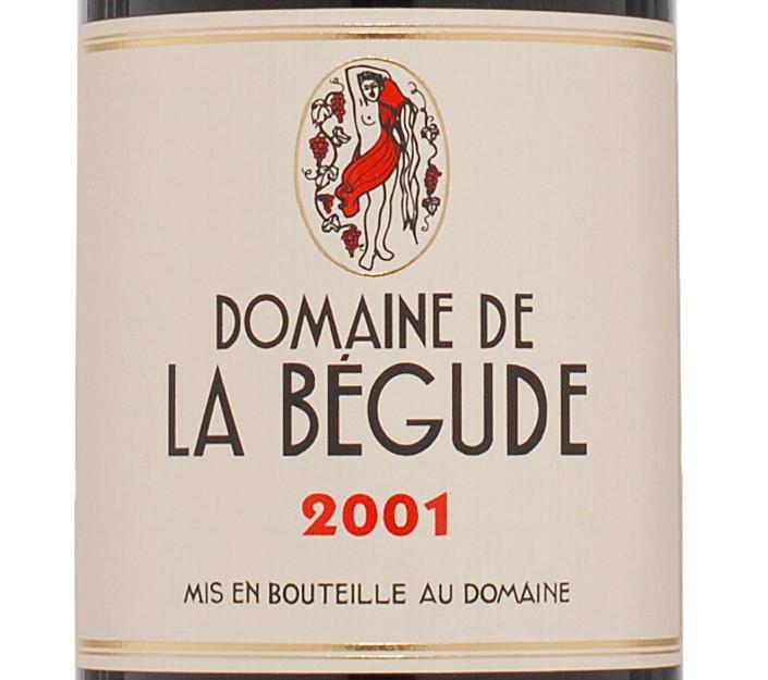 Etiquette du Domaine de La Bégude 2001