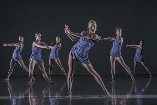 Rambert dancers in PreSentient, by Wayne McGregor. c Johan Perssonn