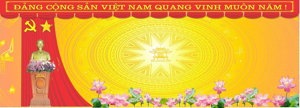 Vector Đại Hội Đảng Mẫu Phông Nền Sân Khấu