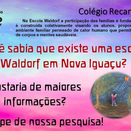 Você sabia que existe uma escola Waldorf em Nova Iguaçu?