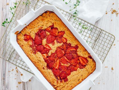 Strawberry Lemon Spoon Cake