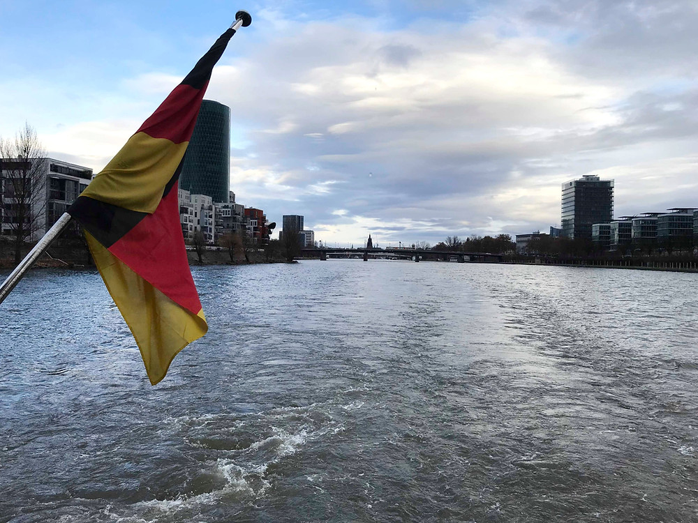 River cruise in Frankfurt Germany