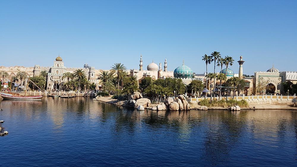Foto do parque de diversões Tokyo Disney Sea.