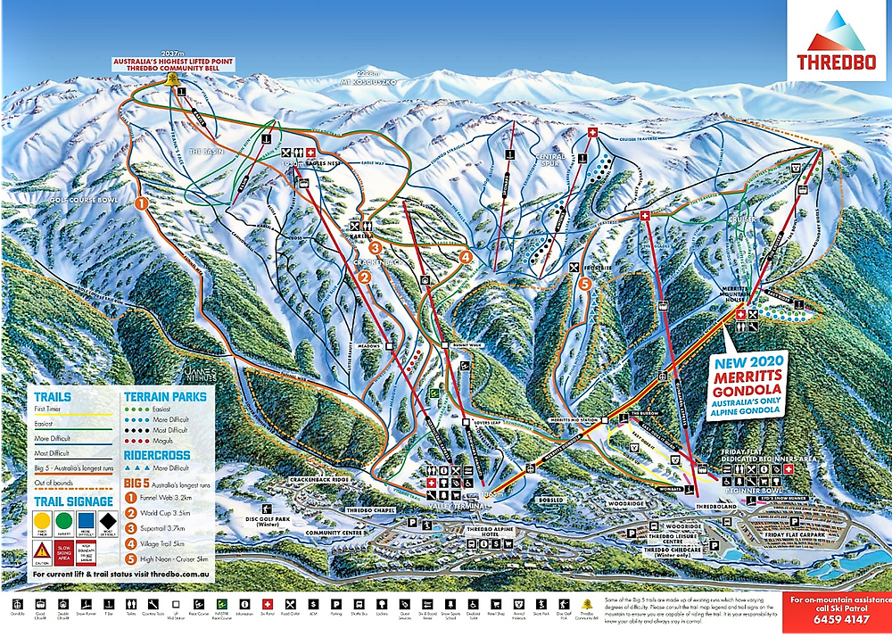 Карта Тредбо| skitour.club| Блог Сергея Чеботова