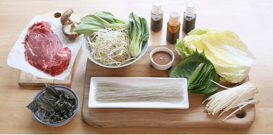 Blue apron recipe kit in Korea