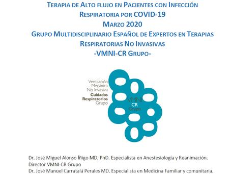 Recomendaciones VMNI, Sistemas de CPAP no Mecánicos y Terapia de Alto Flujo en COVID-19.