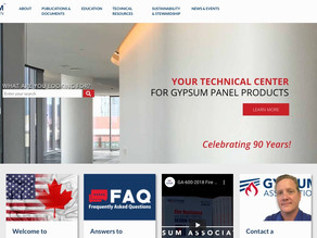 Gypsum Association Adds Tools to Its Website (Revised Resource)