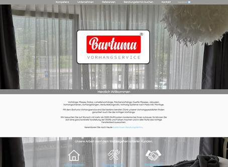 Neuer Webauftritt für Bartuma Vorhangservice Rapperswil