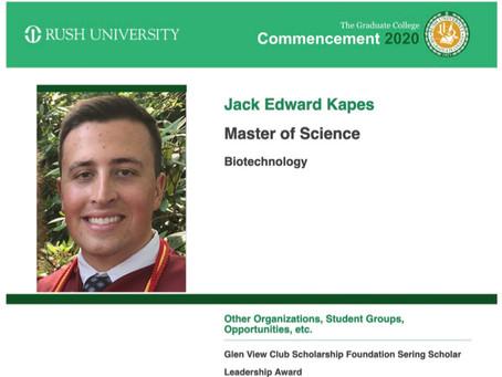 Kapes earns biotech Masters