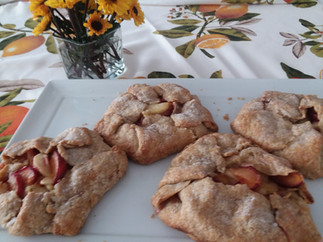 Apple-Plum Tarts with Rye-Cornmeal Crust from Food & Wine prepared by Sandy