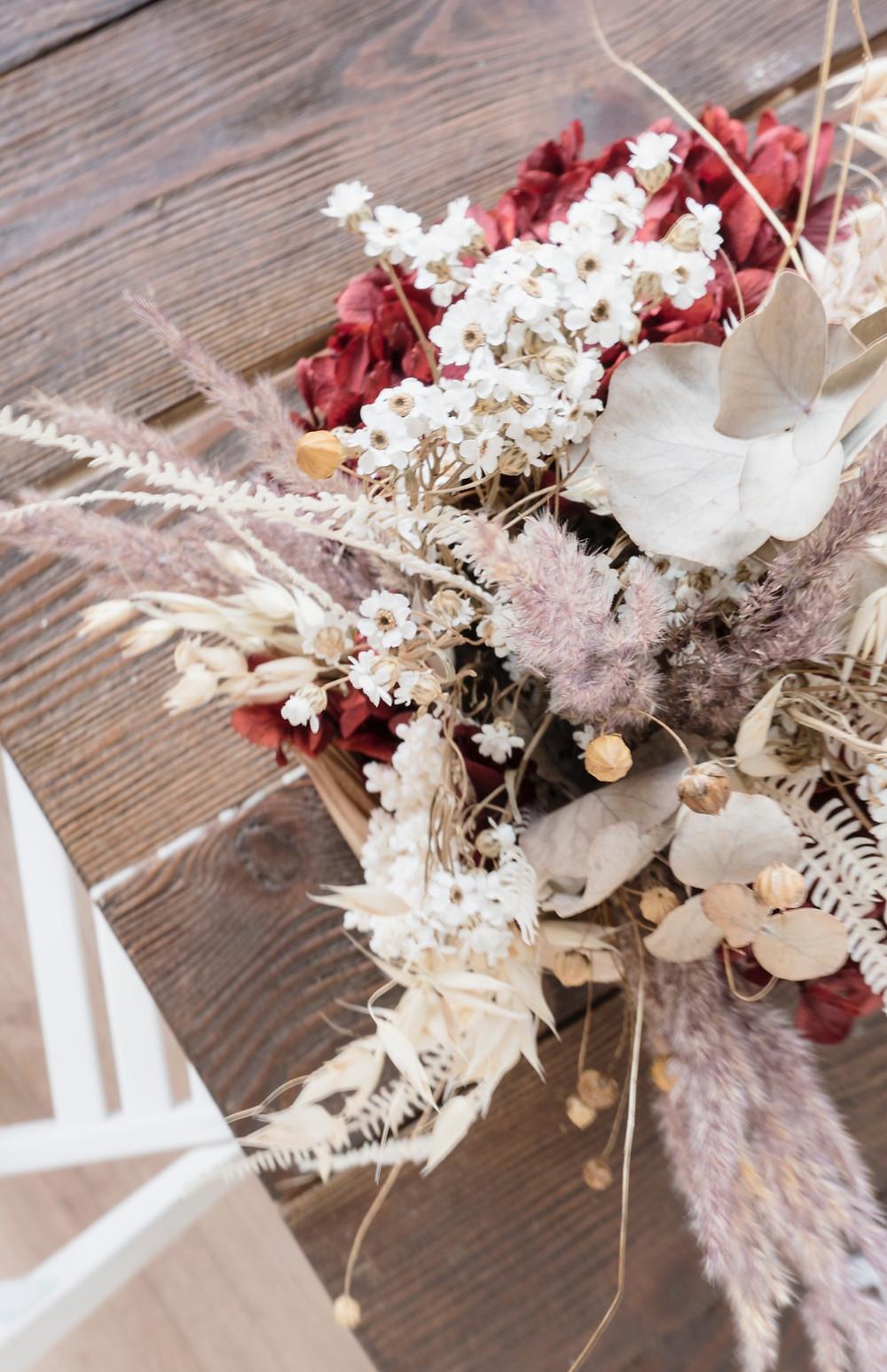 getrocknete Gräser Winterdeko Wedding Wiesbaden