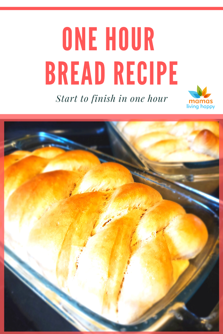 Quick and Easy One Hour Bread from Mamas Living Happy