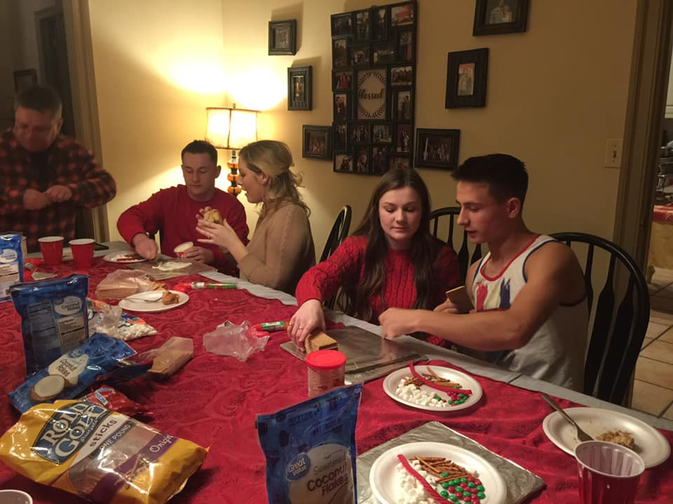 Making Gingerbread houses is a family christmas tradition