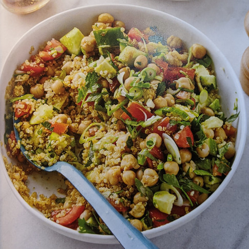 Recipes for Real People: Golden Quinoa Salad and Tofu