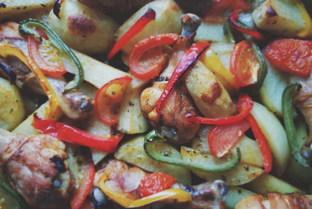 מתכון דל פחמימות לירקות צלויים בתנור