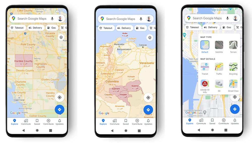 COVID-19 Google Maps | Techysapiens