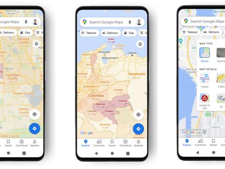 Google Maps COVID-19 update | Google maps COVID layer - Coronavirus information